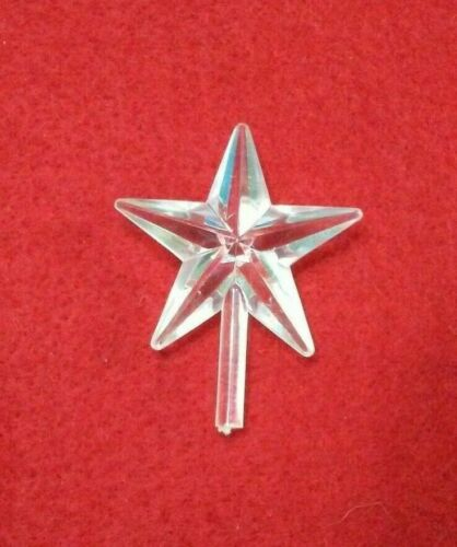 Clear Classic Medium Star Ceramic Christmas Tree Topper Vintage