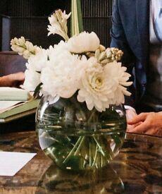 Elegant Handmade Glass Vases - 23cm - £7 each - 12 vases for sale