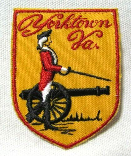Vintage Yorktown Pennsylvania PA Patch Colonist Cannon Historic Travel Souvenir