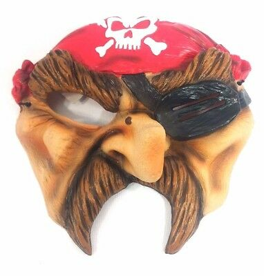 CHINLESS Halloween FACE MASK PIECE MUTANT ZOMBIE CREEPY SCARY Pirate mustache