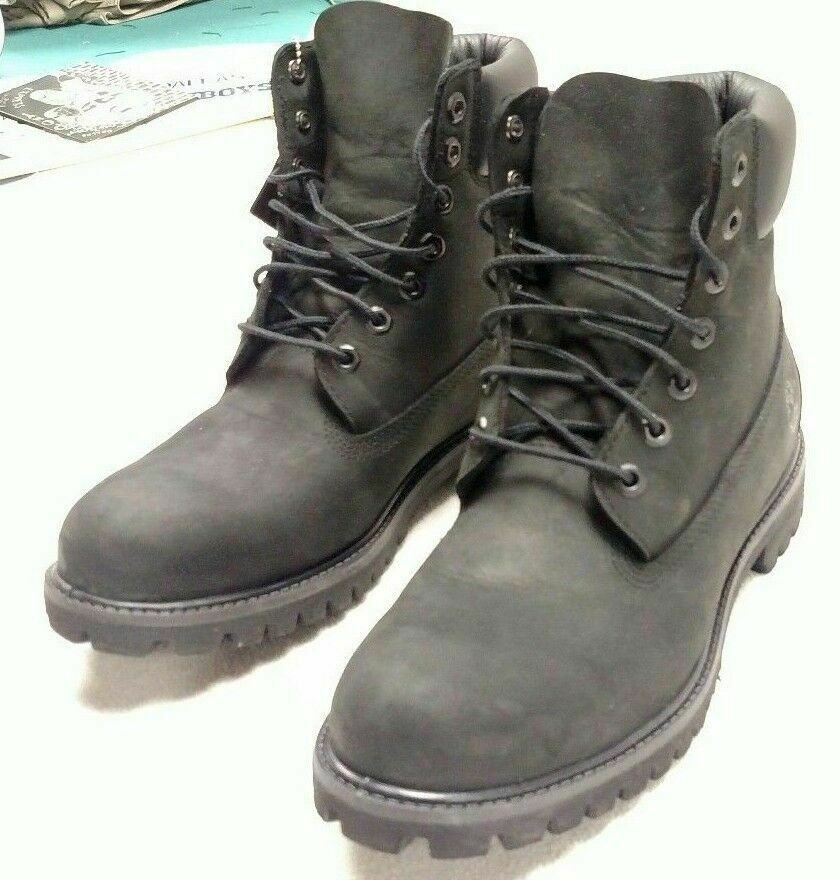 Timberland Toddler 6 Inch Classic Waterproof Premium Boot (Black)