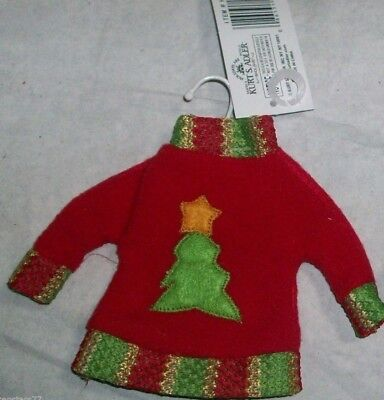 UGLY SWEATER ORNAMENT On Metal Hanger Christmas TREE Cloth 4.5