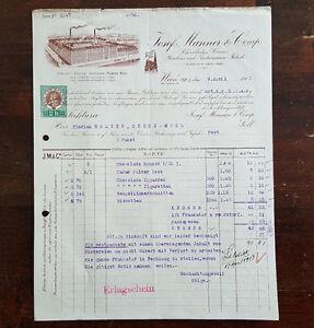 Alte Rechnung 1913 aus Wien Josef Manner & Comp. (C16) - <span itemprop=availableAtOrFrom>Schörfling am Attersee, Österreich</span> - Sie haben das Recht innerhalb von 1 Monat nach Erhalt der Ware ohne Angabe von Gründen vom Kauf zurückzutreten. Ab einem Warenwert von 20 Euro tragen wir die Kosten der Rü - Schörfling am Attersee, Österreich