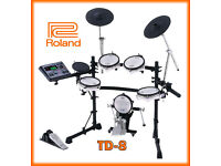 Roland TD-8 kit V Drums kit VEX pack upgraded electronic percussion set NICE!