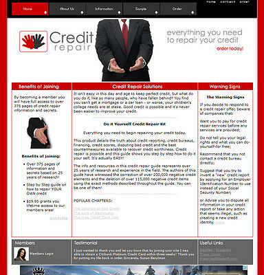Credit Repair Website For Sale Comes W All Software And Ebooks Not A Affiliate
