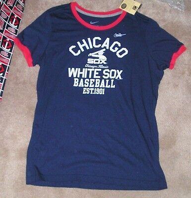 NEW MLB Chicago White Sox Ringer Baseball T Shirt NiKE Womens Ladies 2XL NEW NWT - Ladies Baseball Ringer T-shirt
