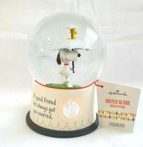 NEW Hallmark Peanuts Snoopy and Woodstock Good Friends Snow Globe