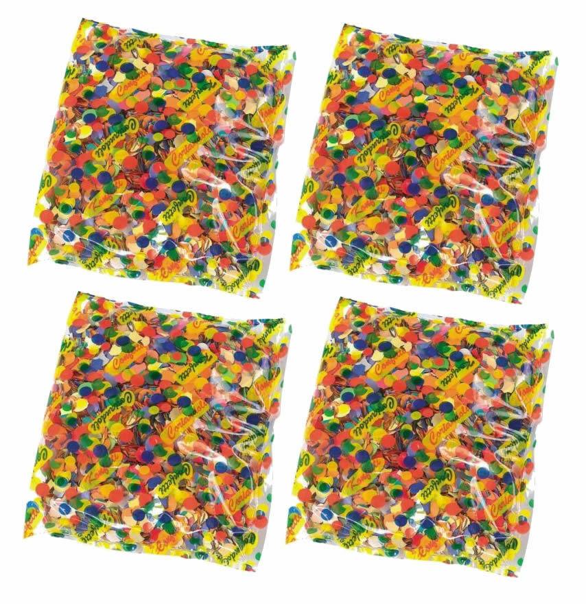Konfetti 4x 50g Confetti Konfettibeutel 200g Karneval Konfetti Papierschnipsel
