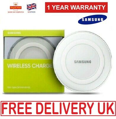 UK Genuine Samsung S6 S7 Edge S8 S9 S10 QI Wireless Charger Charging Pad UK