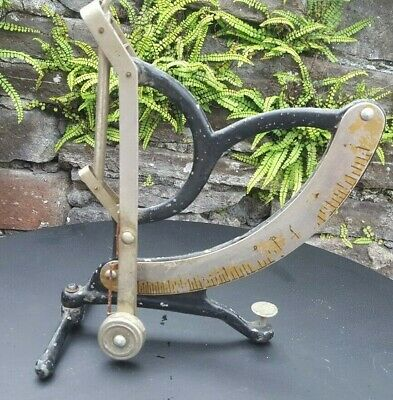 Antique, rare cast Iron Stair lever Angler Checker