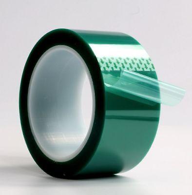 0.08mm 2 X 72 Yards High Temp Green Polyester Masking Heat Tape Powder Coating