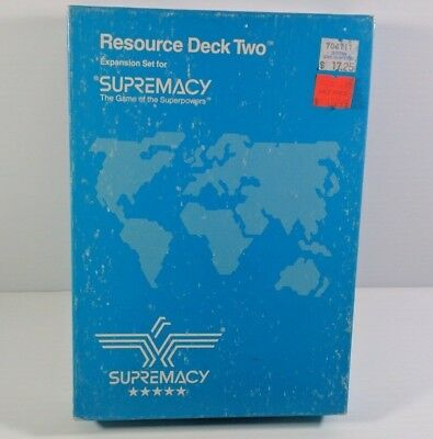 Supremacy Resource Pack 2 Board Game Expansion 1987 Complete for sale  Abbotsford