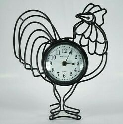 Rooster Wall Clock Sculpture Metal Art