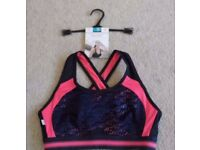 NON WIRED HI IMPACT SPORTS BRA FROM MARKS & SPENCER - SIZE 36A - BRAND NEW