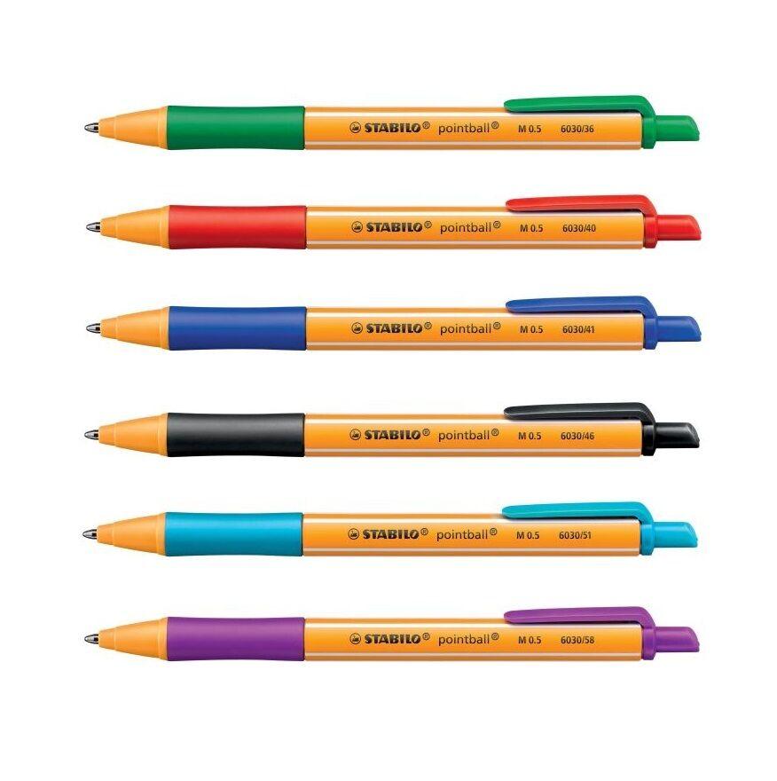 Stabilo Kugelschreiber pointball 0,5mm Schreibstärke, Farbe wählbar