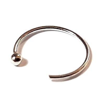 Nasen Ring Tragus 8mm 22g (0.6mm) Piercing 9k Gold Huggie Offen Ring (Nasen-ring Gold 22)