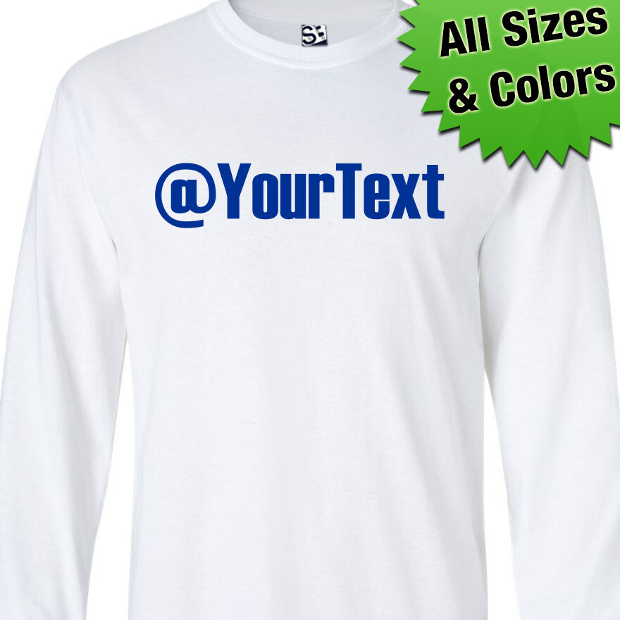 Custom Twitter Long Sleeve T-shirt Personalized Name Handle - All Sizes & Colors