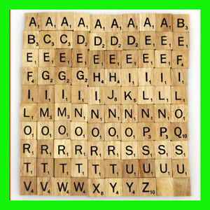 wooden scrabble tiles 100 complete for scrapbooking