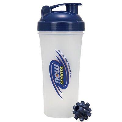 NOW Sports ThunderBall Blender Protein Shaker Cup Bottle 25 oz TURBO MIXER BALL