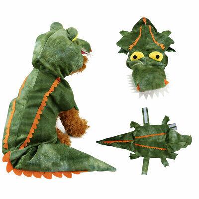 Crocodile Costume for Dogs Halloween Velvet Dog Costumes Pet NEW Size S M L