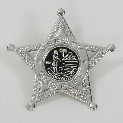 Sheriffstern silber Cowboy Kostüm Abzeichen Wild West Sheriff Stern 125211213