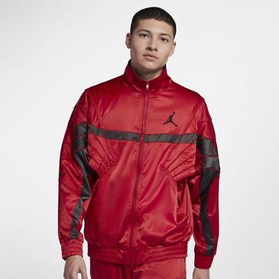 ade71b9d65c234 Nike Jordan Sportswear AJ 5 Men s Satin Full Zip Jacket 3XL Red Basketball