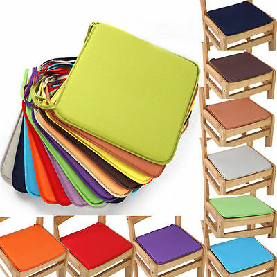 Chair Seat Pad Cushion Cover Solid Home Kitchen Office Dinin