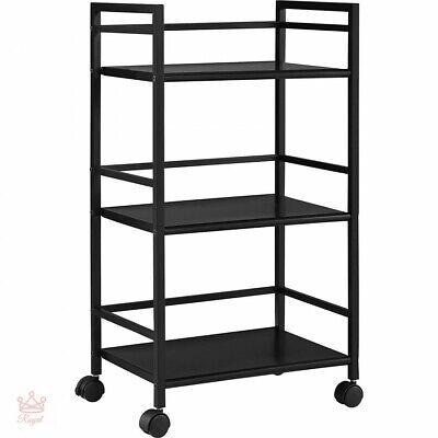 Bathroom Storage Cart Large Heavy Duty 3 Shelf Rolling Metal Portable Utility