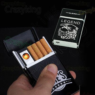 Utility LEGEND USB Flameless Lighter Rechargeable 8x Cigarette Case Set