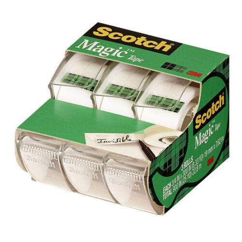 """3M™ 70-0051-8327-5 Scotch™ 3/4"""" x 300"""" Magic Tape (3-Pack)"""