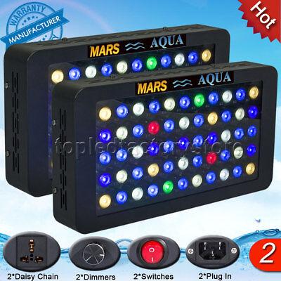 2PCS MarsAqua Dimmable 165W LED Aquarium Light Full Spectrum Reef Coral SPS LPS