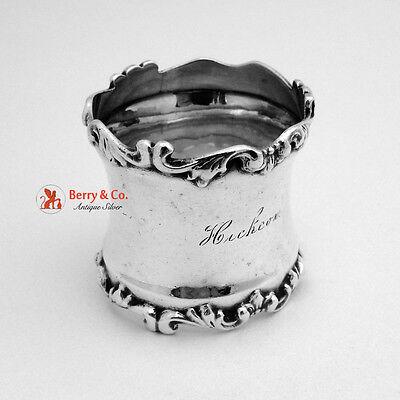 Fancy Scroll Edged Napkin Ring Sterling Silver