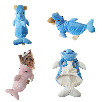 US Pet Cosplay Costume Dolphin Clothes for Dog Cat With TailParty Decor S-XL - Costumes For Pets