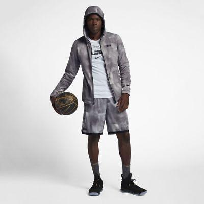 Nike Therma Lebron Herren Full Zip Hoodie Jacke XL Große Grau Showtime Neu (Lebron Full Zip)