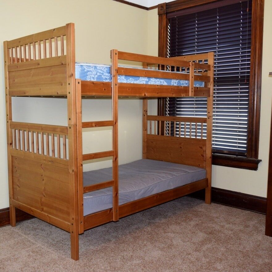 Ikea Hemnes Wooden Bunk Beds Good Condition Can Separate Into 2