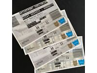 2 Ricky Gervais humanity tour tickets - Belfast Waterfront - Wed 29th March - Block A / Aisle Seat