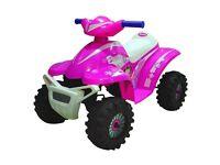 Pink ride on electric quad bike