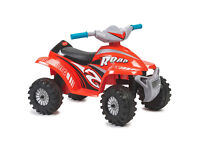 Red racing ride on quad bike childrens electric push button