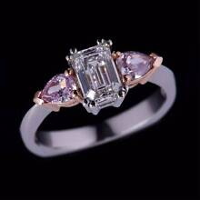 New Diamond ring 1.46ct 3 stone with pink diamonds Rivervale Belmont Area Preview