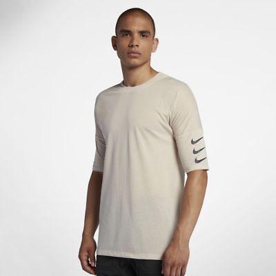 Nike Subir 365 Hombre Media Manga Camiseta para Correr S Blanco Arena Gym Camisa