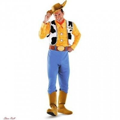 Woody Costume Adult Men Toy Story Disney Halloween Deluxe Polyester Lightweight