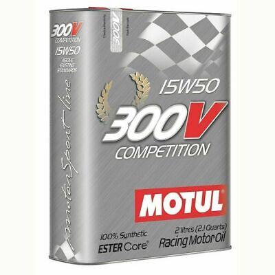 2 LITRI Olio Motore MOTUL 300V Competition 15w50 100% Sintetico EsterCore Racing