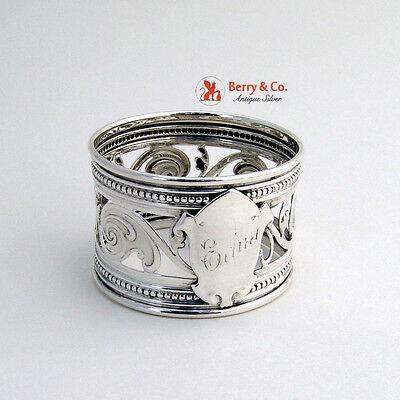 Open Work Napkin Ring Sterling Silver Gorham 1865
