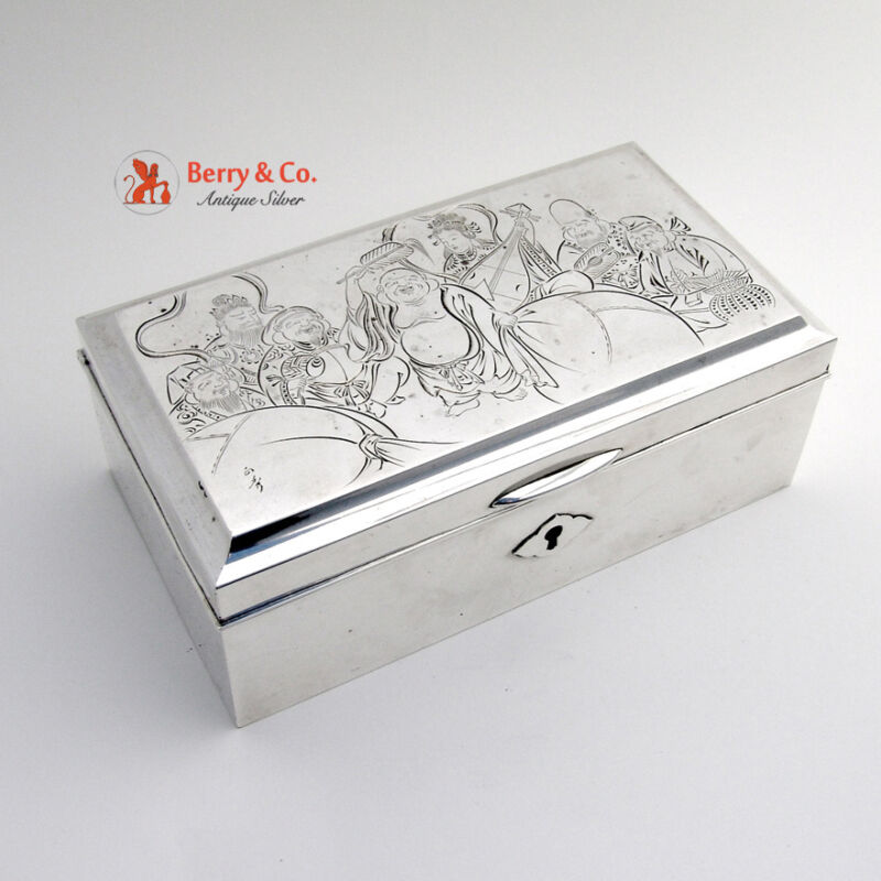 Japanese Sterling Silver Dresser Box