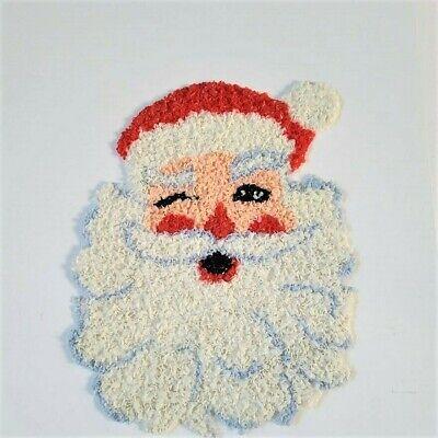 Vintage Christmas Winking Santa Claus Melted Plastic Popcorn Decoration