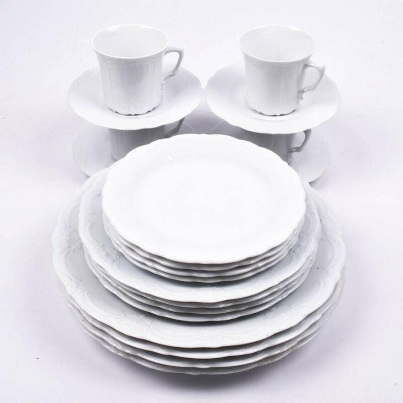 Tirschenreuth Baronesse White China Eight Place Settings