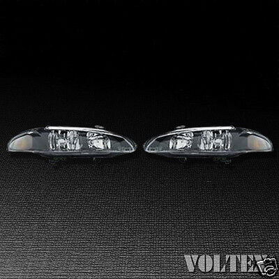 1997-1999 Mitsubishi Eclipse Set of 2 Headlight Lamp Clear lens Halogen Pair
