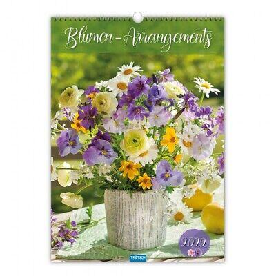 Trötsch Blumen-Arrangements Großbildkalender Monatskalender 2022