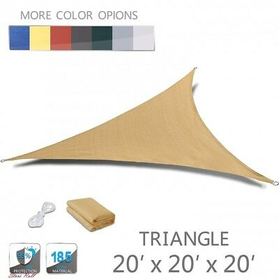 Sun Shade Sail Hardware Sand Triangle UV Block Outdoor Patio Garden Love Story ()