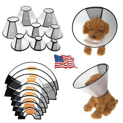 USA Pet Dog Cat Protection Cover Cone Neck Collar Anti-Bite Recovery Protective Cat Cone Collar